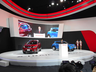 Nissan press event