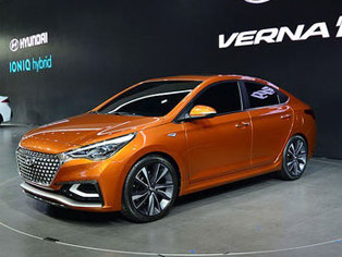 Hyundai: Display of the Verna concept model
