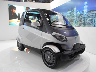 Piaggio NT3: Concept model, seating for three persons, powered by 230cc/350cc gasoline engines